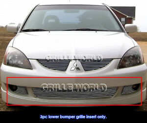 Aluminum Billet Grille For 2004 2005 Mitsubishi Lancer Ralliart Bumper