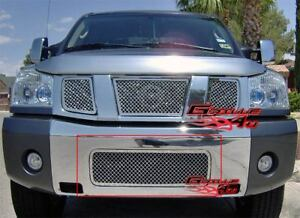 Fits 2004 2015 Nissan Titan 04 07 Armada Bumper Stainless Steel Mesh Grille