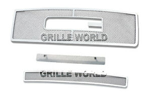 Ss 1 8mm Mesh Grille Combo For 07 12 2011 2012 Gmc Sierra 1500 New Body Style