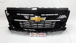 84270791 2015 2019 Chevrolet Colorado Oem Grille Painted Black New Gba 8555