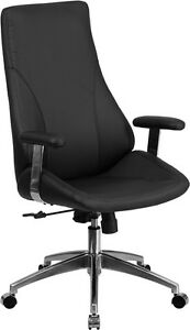 High Back Black Leather Executive Swivel Office Chair Conference Office Chair