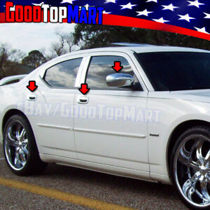 For Dodge Charger 2006 2010 Chrome Covers Set Full Mirrors 4 Door Handles W o Pk