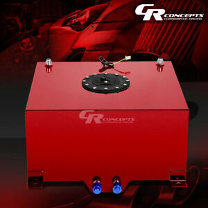 10 Gallon Red Coated Universal Racing drifting Fuel Cell Gas Tank level Sender