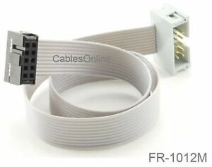 1 ft 10 pin 2 54mm pitch Male female 10 wire Idc Flat Ribbon Extension Fr 1012m