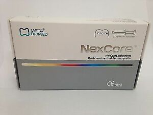 Dental Nex Core Dual Cured Build Up Composite Resin Syringe 2pcs By Meta Cement