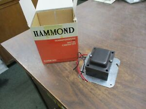 Hammond Control Transformer Dd2e Pri 120v Sec 12v 60hz 25va New Surplus