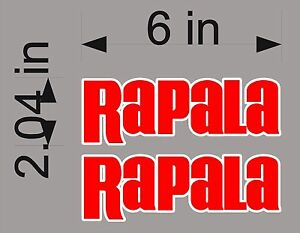 Rapala Fishing Pair 6 Vinyl Vehicle Decals Boat Gear Sticker Graphics