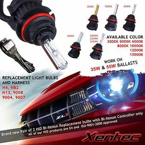Two Xentec Bi Xenon Light Hid Kit S Replacement Bulb High Low Harness H4 H13