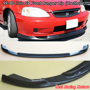 Gv Style Front Bumper Lip Urethane Fits 99 00 Honda Civic 2 3 4dr