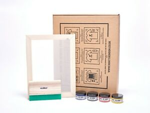 Hunt the moon Screenprinting Kit Frame Squeegee Ink Just Add Inspiration