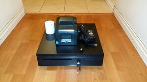 Square Stand Bundle Star Tsp654u Usb Receipt Printer Cash Drawer Combo
