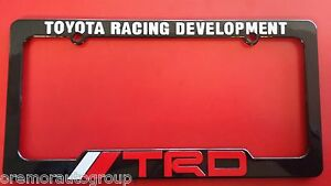 Toyota Racing Development Trd Corolla License Plate Frame Black Red White