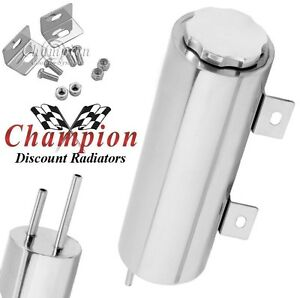 2 X 10 Polished Stainless Steel 15 Oz Radiator Catch Can Overflow Rr Tank