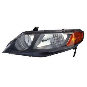 06 08 Civic Sedan 4dr Headlight Headlamp Front Head Light Lamp Left Driver Side