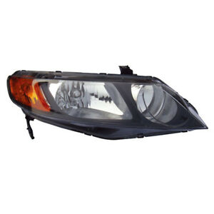 06 08 Civic Sedan Headlight Headlamp Front Head Light Lamp Right Passenger Side
