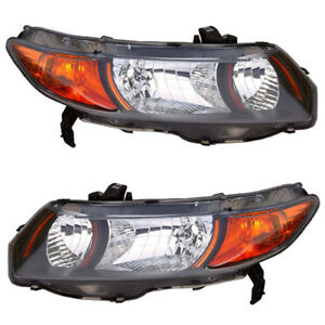 06 09 Civic Si Coupe Headlight Headlamp Head Light Lamp Left Right Side Set Pair