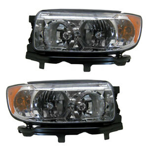 06 08 Forester Headlight Headlamp Front Head Light Lamp Left Right Side Set Pair