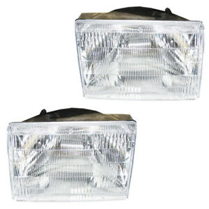93 98 Grand Cherokee Headlight Headlamp Head Light Lamp Left Right Side Set Pair