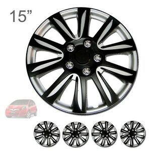 For Honda New 15 Abs Black Rim Lug Steel Wheel Hubcaps Cover 546
