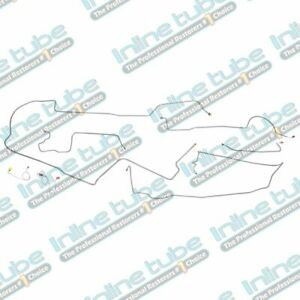 1973 Dodge Charger Complete Power Disc Brake Line Set Kit Lines Tubes Stainless
