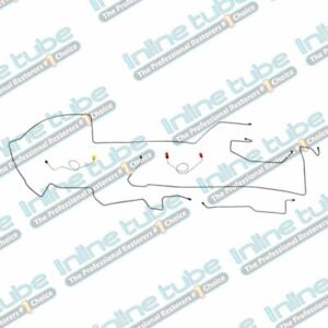 1974 Dodge Challenger Mopar Complete Power Disc Brake Line Set Kit Stainless