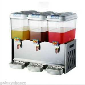 Commercial 18l 3tank Frozen Hot Cold Drink Beverage Milk Juice Dispenser Machine