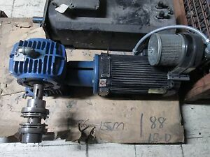 Pacific Science Brushless Dc Motor W Gear F184a1a0n001000 5hp 184t Frame Used