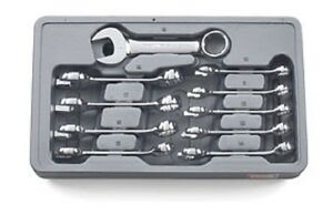 Gearwrench 81904 Metric Stubby Combination Wrench Set 10 Pc