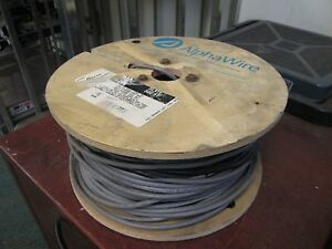 Alpha Wire 22 6 Wire Cmg Ft4 22 Awg 6 conductor approx 253ft New Surplus