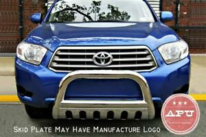 Fits 2011 2013 Toyota Highlander Stainless Bull Bar Brush Bumper Guard
