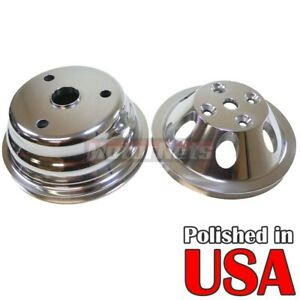 Polish Billet Aluminum Sbc Crank Long Water Pump Pulley Lwp 1g Small Block Chevy