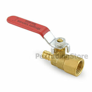 1 2 Pex Crimp X 1 2 Female Threaded Brass Shut off Ball Valve Full Port
