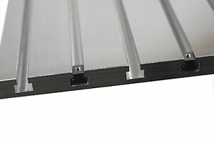 T slot Plate Aluminum T track Metalworking Tooling Fixture Plate 24 x16