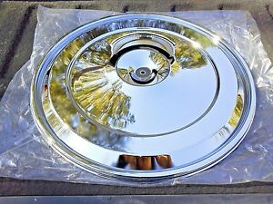 Pontiac 1968 72 17 Chrome Air Cleaner Breather Lid Quadrajet Carburetor Transam