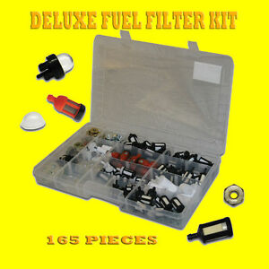 Chain Saw weed Trimmer Fuel Filter Kit Primer Bulbs Bar Nuts