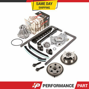 Timing Chain Kit Cam Phaser Oil Water Pump For 04 10 Ford 5 4 Triton 3 valve