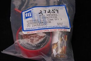 Amphenol Aerospace Mil spec Aircraft Connector W Contacts Part Jd38999 26wj61sb
