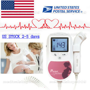 Handheld Pocket Fetal Doppler prenatal Heart Monitors ultrasound Scanner gel