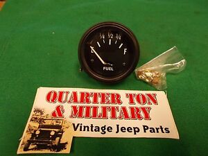 Jeep Willys Mb Gpw Cj2a 3a Cj3b 12 Volt Fuel Gauge