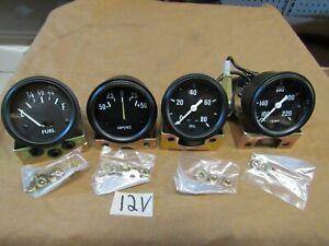 Gauge Kit New 12 Volt Fits Willys Jeep Mb Gpw Cj2a Cj3a Early Cj3b