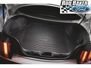 15 Thru 19 Mustang Oem Genuine Ford Black Cargo Area Protector Mat W O Subwoofer