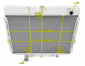 1967 1968 1969 Ford Ranchero 4 Row Ar Radiator