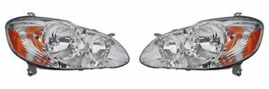 2005 2006 2007 2008 Toyota Corolla ce le Headlights Head Lamps