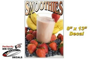 Smoothies 8 x13 Decal For Ice Cream Parlor Or Concession Food Trailer