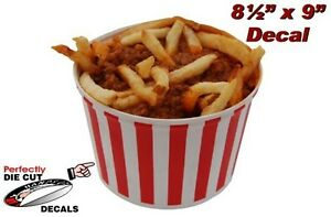 Chili Fries 8 5 x9 Decal For Hot Dog Stand Concession Trailer Sign Or Banner