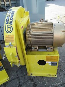 Northern Blower Centrifugal Fan 40 2725 Baldor Motor 40hp 3540rpm 230 460v Used
