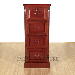 Cherry 4 Drawer File Vertical Filing Cabinet so C115 cw f 211 52