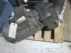 Nord Motor W Nord Gear 132s 4 3232azbm 7 5hp 152 Speed 11 38 Ratio Used