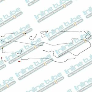 1974 76 Plymouth Duster Complete Manual Disc Brake Line Kit Set Tubes Stainless