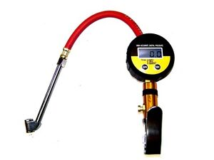 Air Tire Inflator With High Accurate Digital Pressure Gauge With Dual Chuck